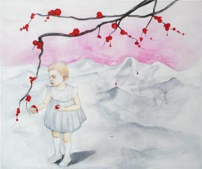 1. bloody fruit 2011, acrylic on canvas 100x120