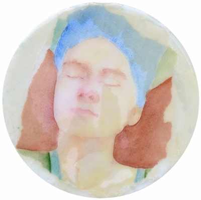 13. Portret 4 mixedmedia on canvas 20 cm 2013
