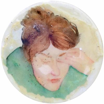 14. Portret 3 mixedmedia on canvas 20 cm 2013