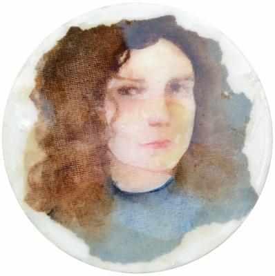 16. Portret 1 mixedmedia on canvas 20 cm 2013