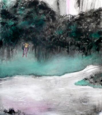34. Udolie 2011, akryl na plátne 90x60