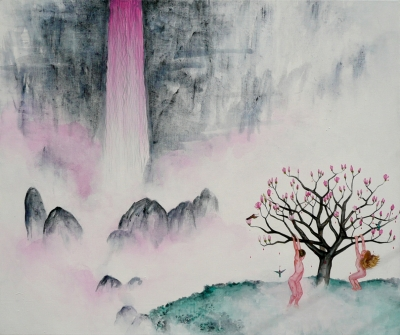 35. Waterfall 2011, acrylic on canvas 75x90