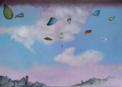 36. Wings 2011, acrylic on canvas 50x70