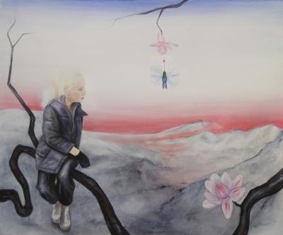 37. hypersomnia- hummingbird 2011, acrylic on canvas