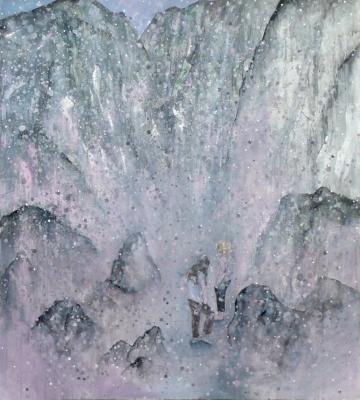 38. Prvy sneh 2011, oil on canvas 100x90