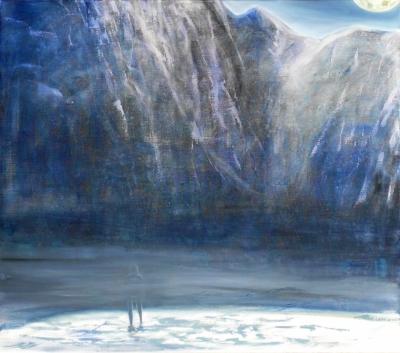 41. Hora  uhlík a olej na plátne 70x80 2010