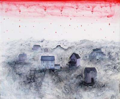 44.Biela krajina 2011 acrylic on canvas 90x110cm