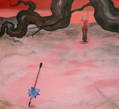 45. Arrow 2011, acrylic on canvas 130x140