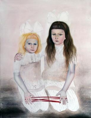 48. Sestry 2011 acrylic on canvas 100x75cm