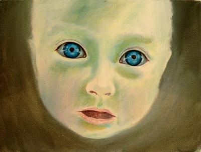 49. portrét 20x30, olej na plátne 2009