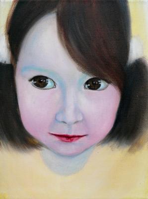 51. portrét 20x30, olej na plátne 2009