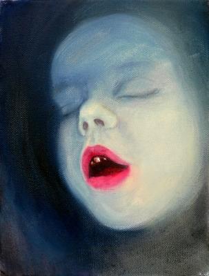 52. portrét 20x30, olej na plátne 2009