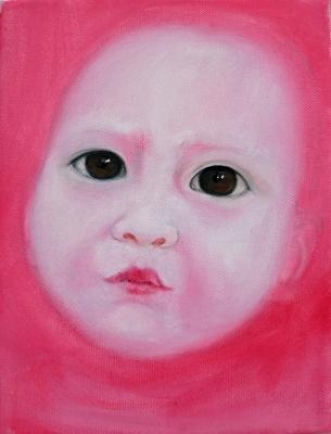 56. portrét 20x30, olej na plátne 2009