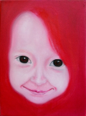 57. portrét 20x30, olej na plátne 2009