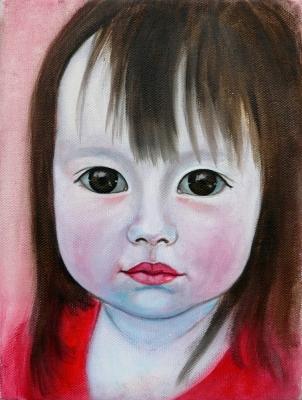 58. portrét 20x30, olej na plátne 2009