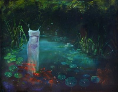 6. Zensky lesik oil on canvas 130x165 cm 2014