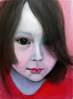 61. portrét 20x30, olej na plátne 2009