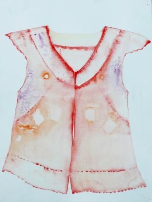 nočná košela, akvarel na papieri, 40x30 2008, mária matrková