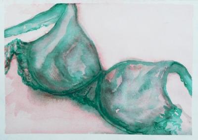 prádielko, akvarel na papieri,  2008, mária matrková